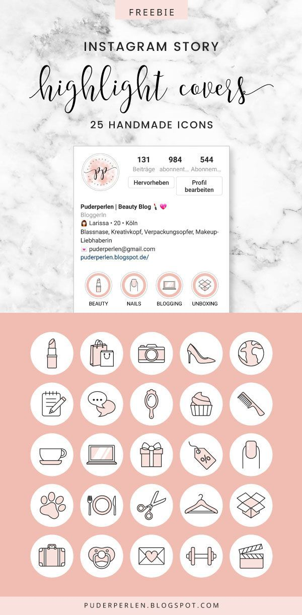 Instagram highlights cover