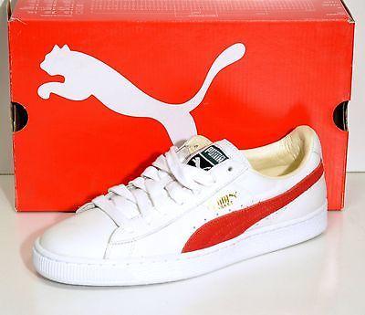 PUMA scarpe da ginnastica colore bianco e rosso mis. EU 42 US 9