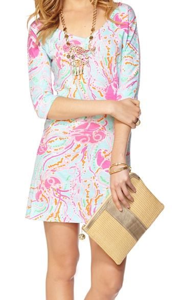 Lilly Pulitzer Eliza V-Neck T-Shirt Dress In Jellies Be