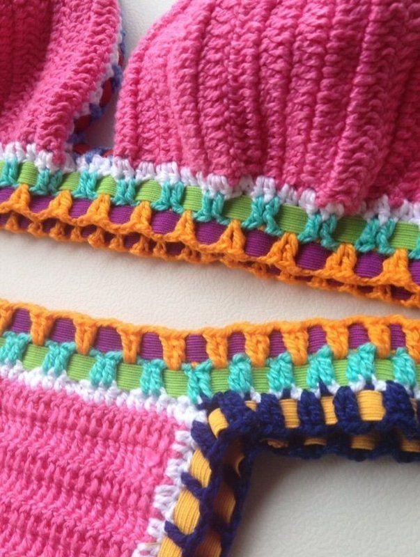 Biquíni Crochet Kiini Rosa - Crocheteria Handmade