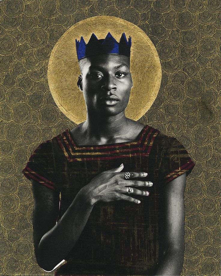 """Photographer Gabriel Garcia Roman's """"Queer Icons"""" series portrays queer people of color as saints and warriors. Jahmal Golden is a poet and a student at The New School."""
