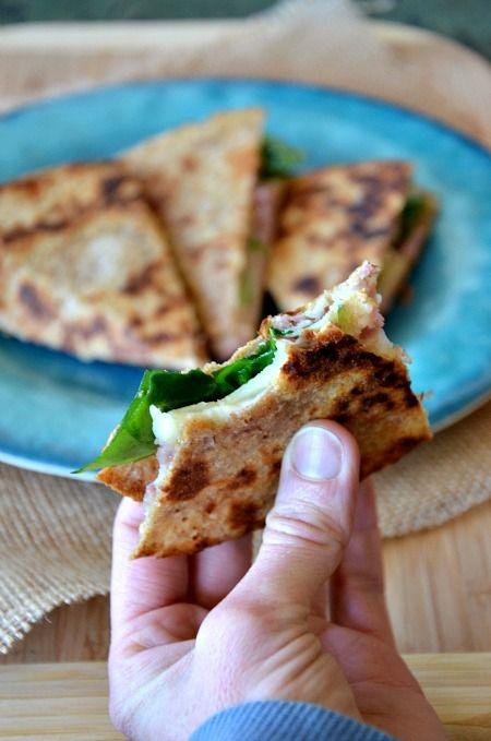 Ham, Apple & Swiss Quesadilla by @Kelley Epstein {Mountain Mama Cooks}