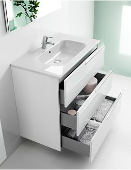 THIS IS THE SINK Roca Victoria-N Unik Basin And Unit With 3 Drawers 800mm - White