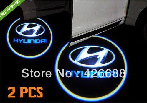 Бесплатная доставка! 5 Вт автомобиль вел свет двери для Hyundai привели логотип свет привел Украшения автомобиля IP69K водонепроницаемый