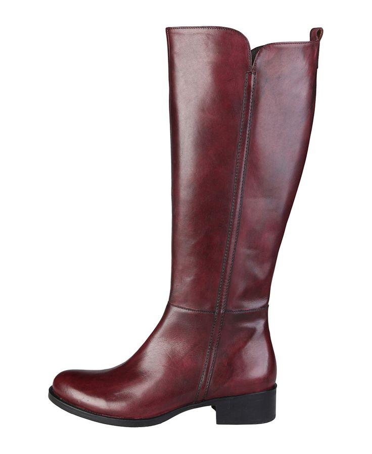 Glamour e comfort vanno di pari passo con questi stivali in pelle e la suola in gomma: la calzata vi permetterà di indos - Stivale donna Rosso