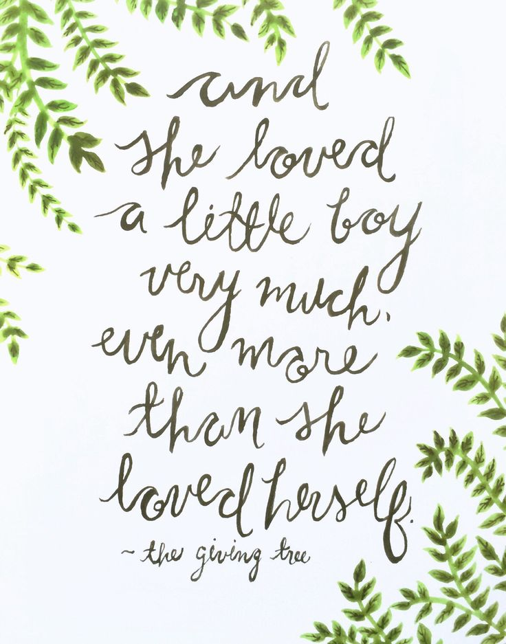 Watercolor painting, the Giving Tree quote by earthandfleur on Etsy https://www.etsy.com/listing/212436904/watercolor-painting-the-giving-tree