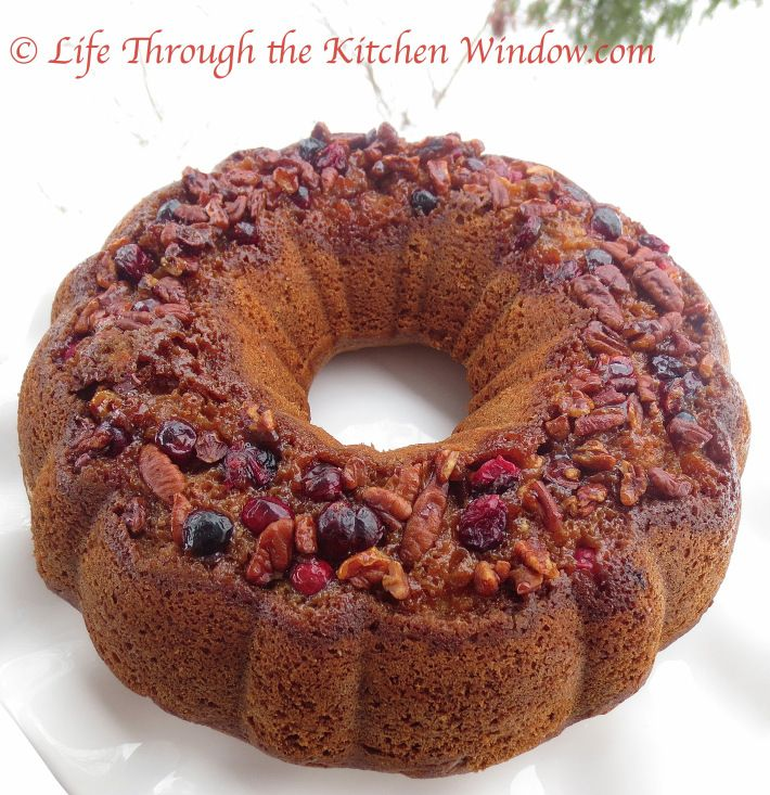 Pecan Coffee Cake with a Cranberry Pecan Topping ⎮ © Life Through ...