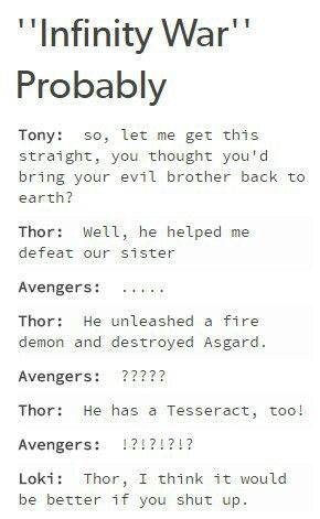 Text ★Infinity war Probably (: