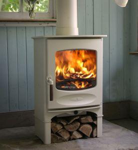 White wood Burning Stove