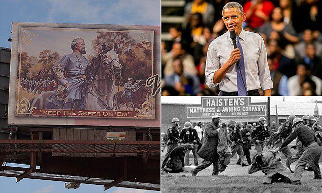 KKK founder remembered in billboard at the foot of Selma bridge