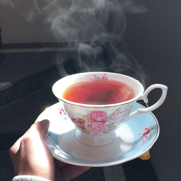 #tea #cup #teacup #blue #hand #classic
