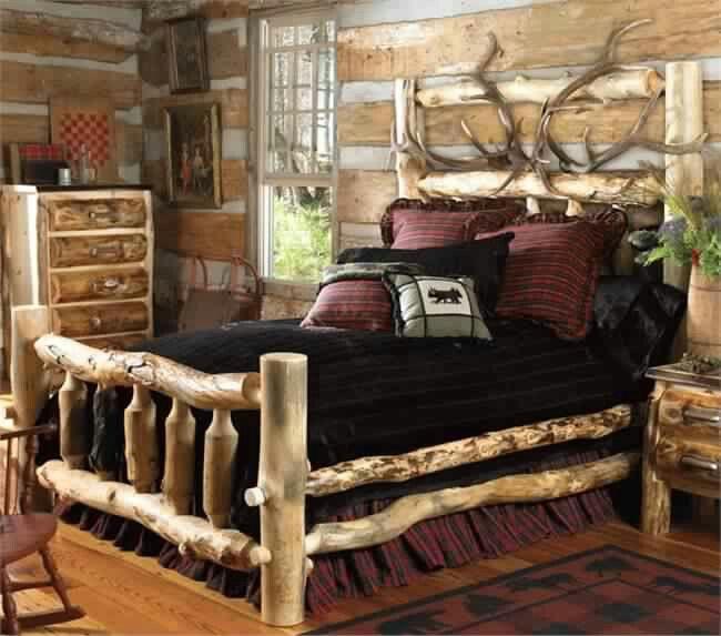 Elk Antler Aspen Log Bed   Full found in our rustic log beds at home  furniture design ideas. 27 best Log beds images on Pinterest   Furniture ideas  Rustic log