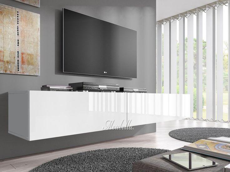 bol.com | TV-Meubel Flame - Wit - 200 cm