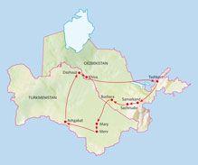 Rondreis Turkmenistan en Oezbekistan van Koning Aap, lees meer op http://koningaap.nl/tradetracker/?tt=492_12_58034_&r=http%3A%2F%2Fkoningaap.nl%2Fturkmenistan-reizen