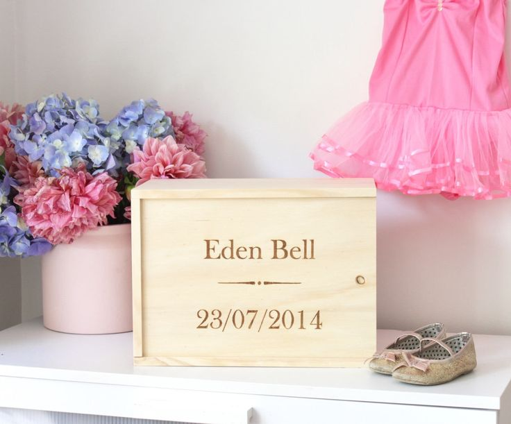 Personalised Baby Wooden Keepsale Box by GrandadPats on Etsy