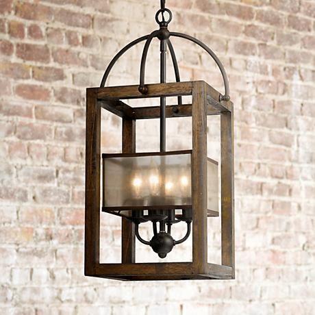 This pendant chandelier is full of elegant rustic comfort and warm illumination.