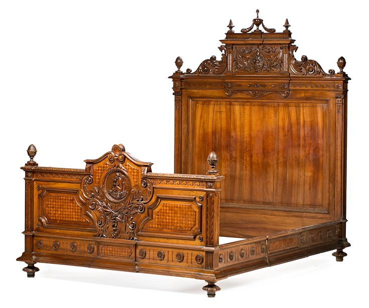 Alfonso of spain bedroom set consisting of a bed and a for Bedroom furniture spain