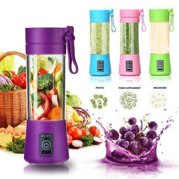 Portable Fruit Juicer Shaker Bottle USB