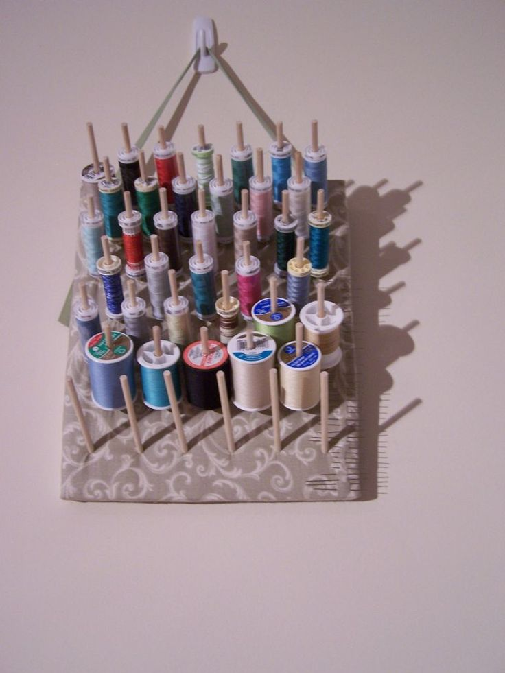 how to make your own thread rack