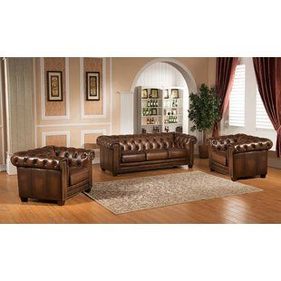 Best place to buy Dusty 3 Piece Leather Living Room Set ...