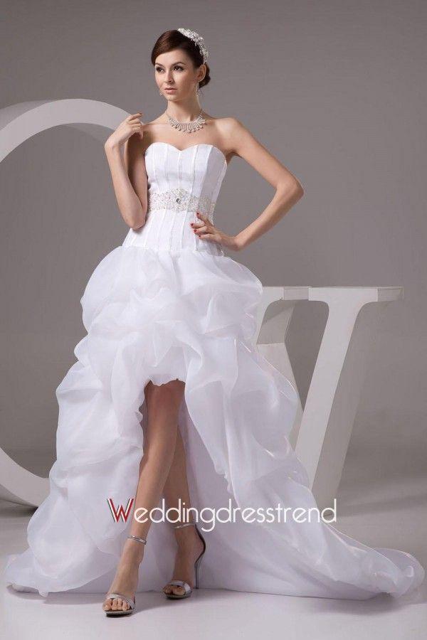 Best Glorious Sweetheart A-line Asymmetry-length Chapel Wedding Dress - Shop Online for Beautiful Wedding Dresses