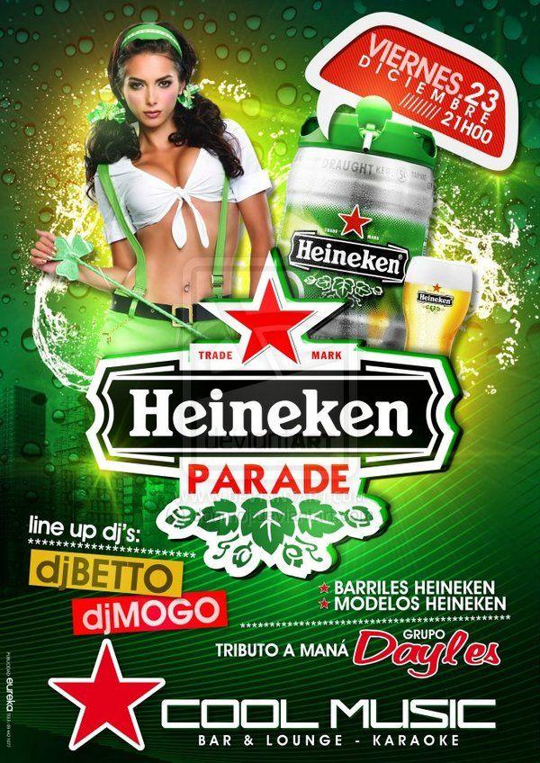 heineken parade flyer by donmoj