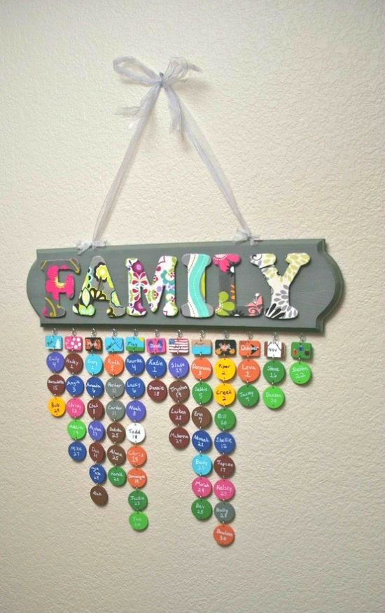 Keeping track of family birthdays – the cute way!