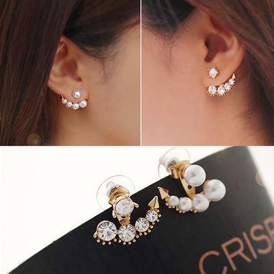 Pearl Anchor Earrings