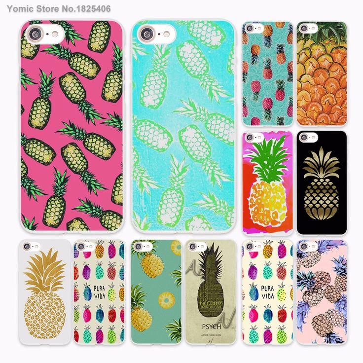summer Fruit Pineapple create texture Design hard White Skin Case for Apple iPhone 6 6s Plus 7 7Plus SE 5 5s 5c phone case