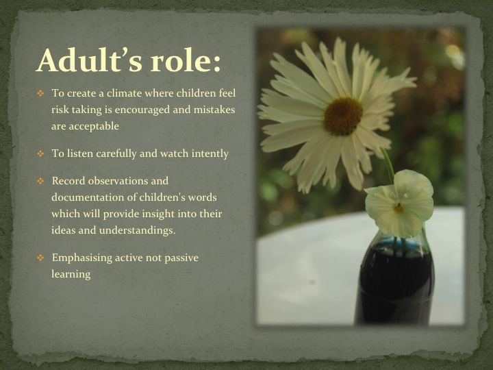 The Adult's Role - The Life-Long Learner ≈≈