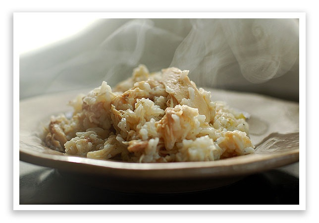 Southern Chicken and Rice. This is how I grew up. No condensed soups, no fancy veggies..just chicken and rice.