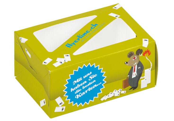 Visitenkartenbox mit Sichtfenster • Ansprechende Visitenkartenbox mit #Sichtfenster • 4-färbig #Offsetbedruckt • #Dinkhauser Kartonagen, #Verkaufsverpackung