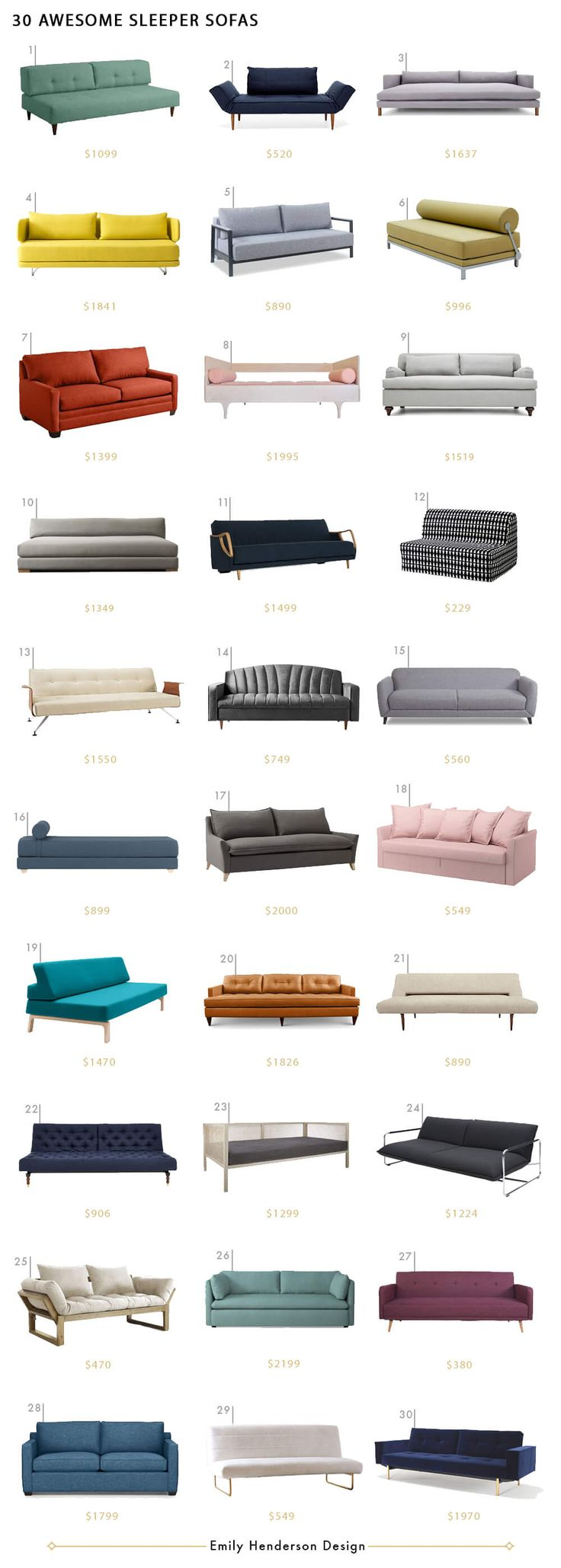 Chic Sleeper Sofas Emily Henderson Sofa Roundup Living Room