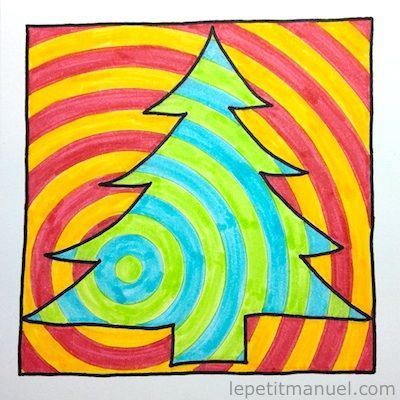 Dessiner son sapin de Noël en Op-Art / Le Blog du Petit Manuel   Le Petit Manuel - Travaux manuels et loisirs créatifs pour enfants de 2 à 12 ans