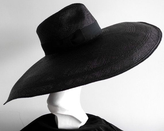 Floppy Wide Brim Panama Fedora Hat Womens Sun Hat by KatarinaHats