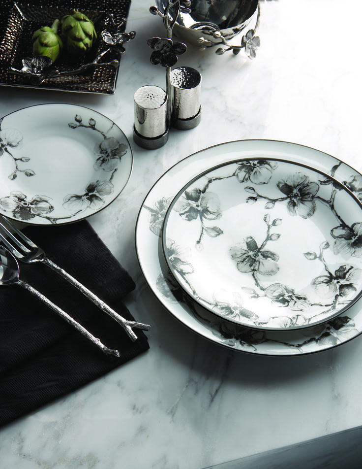 Superior Michael Aram Black Orchid Dinnerware Design