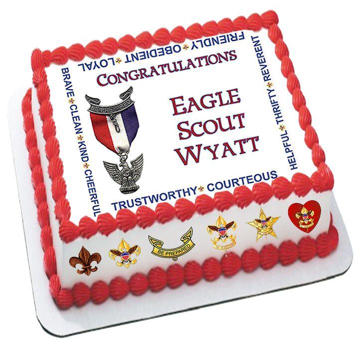 Eagle Scout Emblem Cake Topper