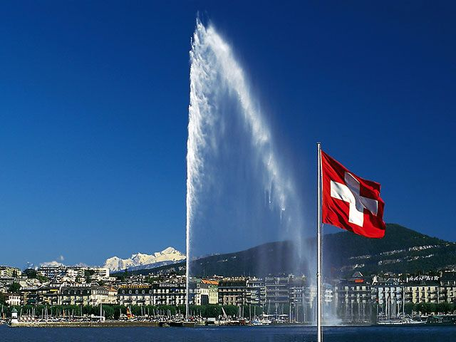 Lake Geneva, Switzerland. Hugging the shores of lovely Lake Geneva, this city is the third biggest in the country. You can find the world's tallest fountain, enchanting museums, and fine restaurants here. For those with a turn towards alternative arts, Geneva is a place not to be missed