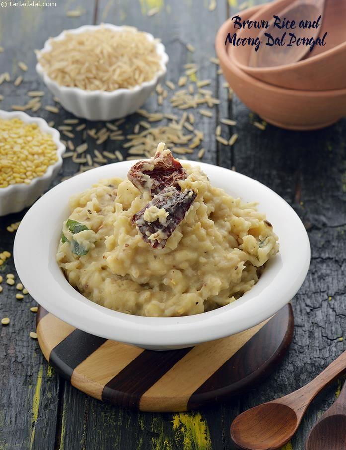 Brown Rice and Moong Dal Pongal, Low Salt Recipe recipe