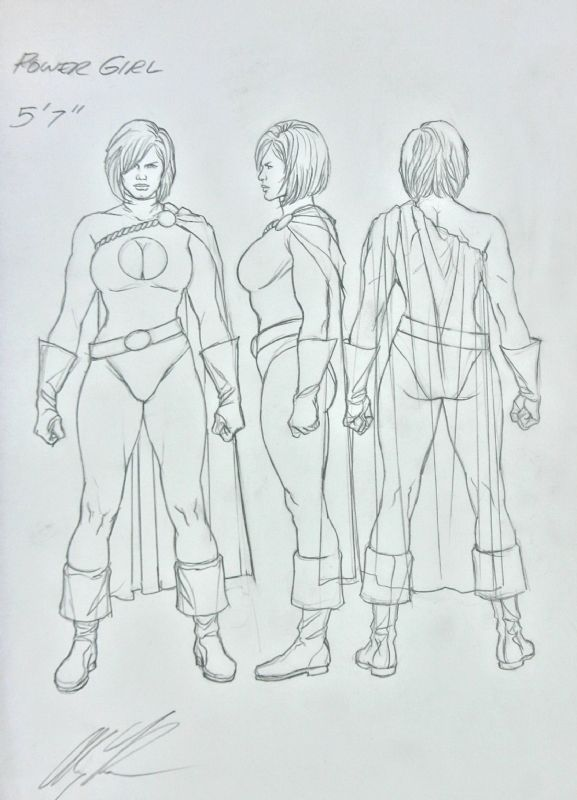 Alex Ross- Power Girl, in SteveM's Alex Ross- Sketches Comic Art Gallery Room - 680652