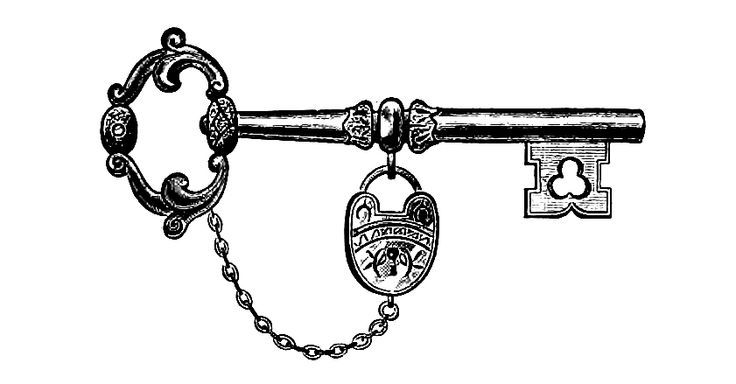 antique key drawing - Google Search