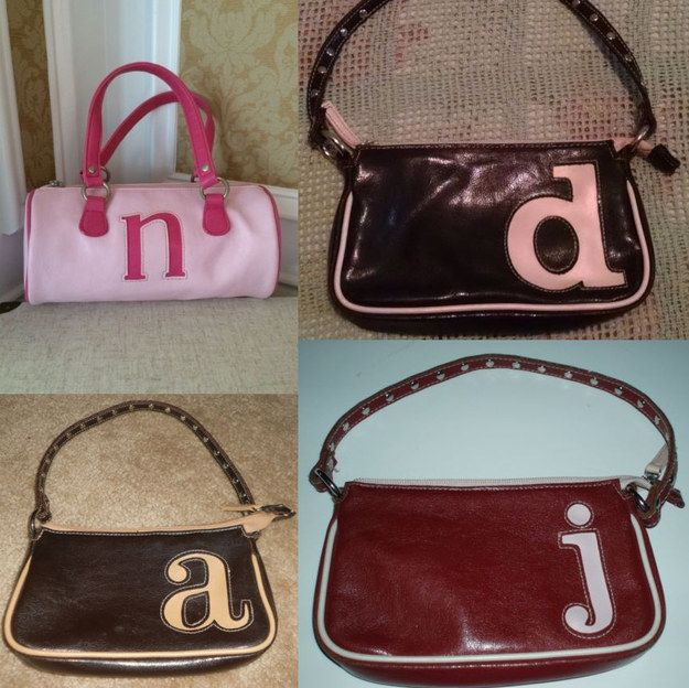 Sporting a lowercase-initial pleather purse. | 21 Little Things That Defined Being A Tween In The Early 2000s
