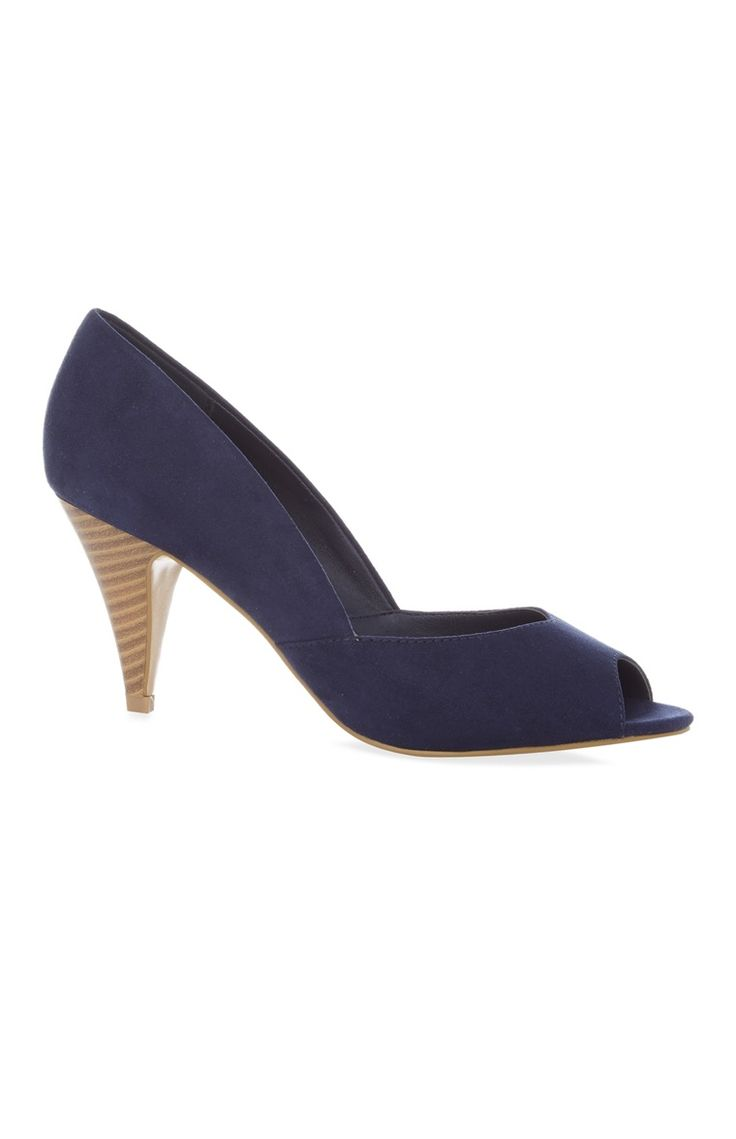 Primark - Zapatos de tacón abiertos azul marino