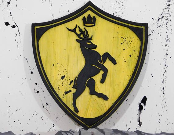 House Baratheon crest Game of Thrones wall art