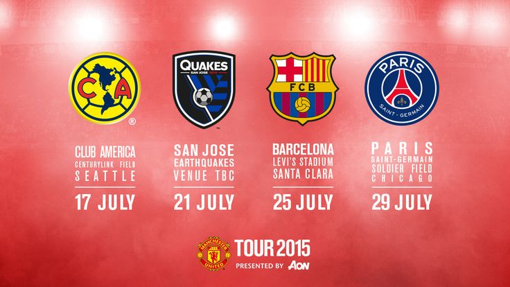 manchester united 2015 tour - Google Search