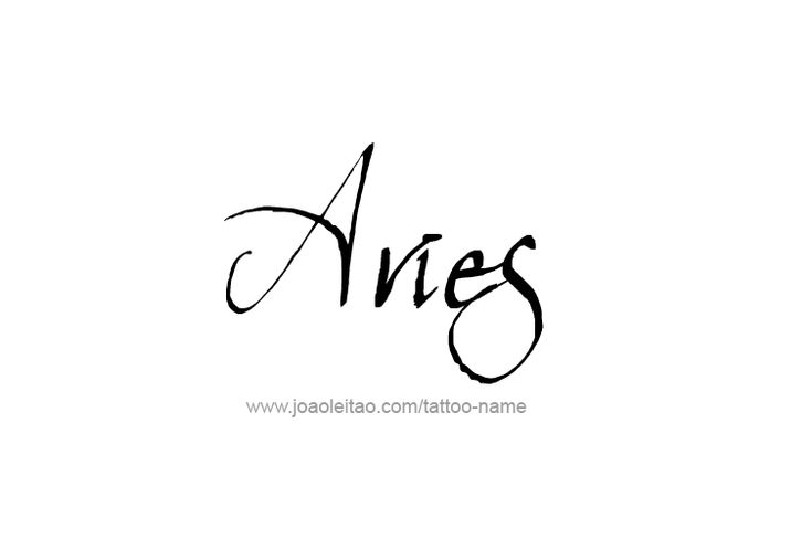 Aries Horoscope Name Tattoo Designs