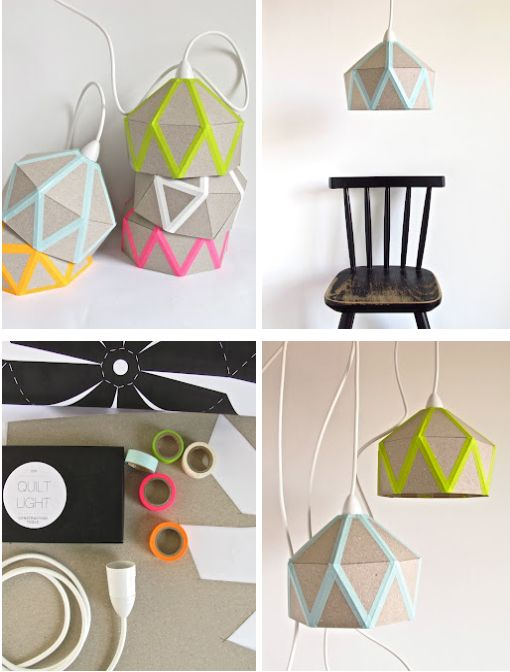 DIY lamp shade (cardboard and tape)