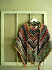 Ravelry: LarissaBrown's melted crayon shawl #1
