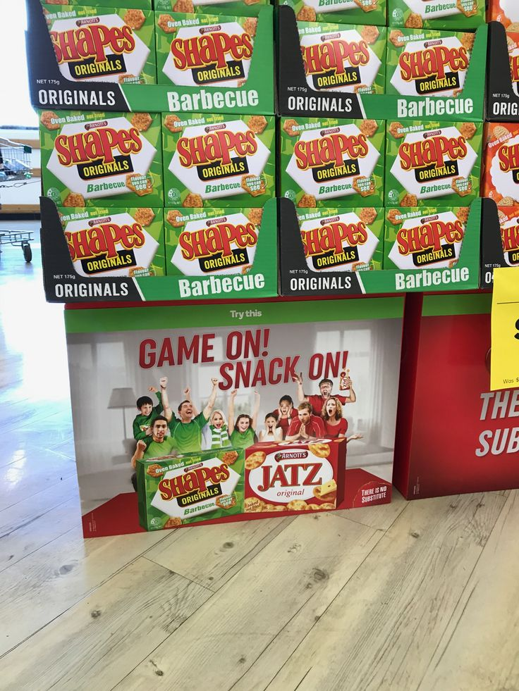 Arnott's Shapes Footy POS...  #SS25Sept2017 #Arnotts #Shapes #Footy #Finals #POS #Showcard #2017 #Woolworths #offlocation