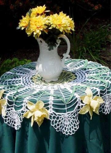 Daffodil Table Topper Crochet Pattern